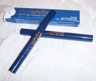 idol white review teeth whitening pen